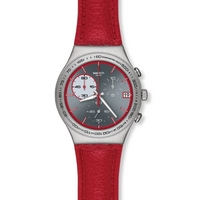 Buy Swatch Gents Irony Chrono Red Wink Watch YCS558 online