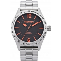 Buy Superdry Gents Battalion Steel Watch SYG107OM online