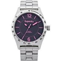 Buy Superdry Ladies Infantry Steel Watch SYL124PM online