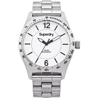 Buy Superdry Ladies Infantry Steel Watch SYL124WM online