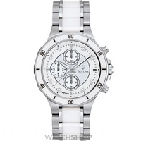 Buy Ladies Bulova Ceramic Chronograph Diamond Watch 98P125 online