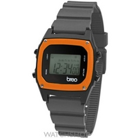 Buy Unisex Breo Binary Grey Orange Alarm Chronograph Watch B-TI-BIN91 online