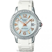 Buy Ladies Casio Sheen Solar Powered Watch SHE-4026SB-7ADR online