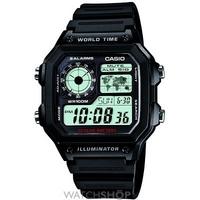Buy Mens Casio World Timer Alarm Watch AE-1200WH-1AVEF online