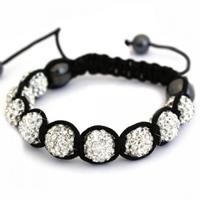 Buy Shamballa Clear Crystal Unisex Bracelet - SHAMBRAC-35 online