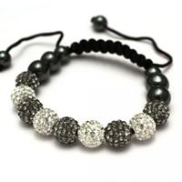 Buy Shamballa Grey and Clear Crystal Unisex Bracelet - SHAMBRAC-72 online