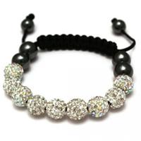 Buy Shamballa Iridescent Crystal Unisex Bracelet - SHAMBRAC-75 online