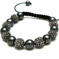 Buy Shamballa Grey Crystal Disco Ball Unisex Bracelet - SHAMBRAC-91 online