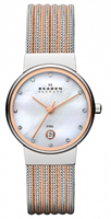 Buy Skagen Ladies Two-tone Mesh Watch - 355SSRS online