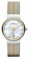 Buy Skagen Ladies Two-tone Mesh Watch - 355SSGS online