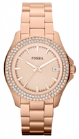 Buy Fossil Retro Traveller Ladies Rose Gold-plated Watch - AM4454 online