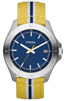 Buy Fossil Retro Traveller Mens Yellow Fabric Watch - AM4477 online