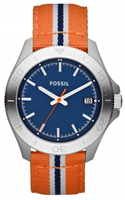 Buy Fossil Retro Traveller Mens Orange Fabric Watch - AM4478 online