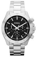 Buy Fossil Retro Traveller Mens Black Chronograph Watch - CH2848 online
