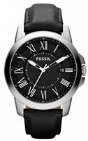 Buy Fossil Grant Mens Black Leather Watch - FS4745 online