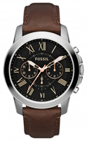 Buy Fossil Machine Mens Chronograph Leather Watch - FS4813 online