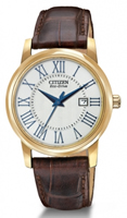 Buy Citizen Eco-Drive Ladies Strap Gold-plated Watch - EW1562-01A online