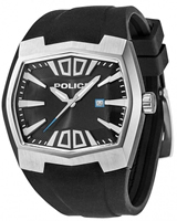 Buy Police Axis Mens Black Rubber Watch - PLC13834JS-02 online
