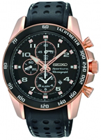 Buy Seiko Mens Rose Gold-plated Tachymeter Watch - SNAE80P1 online