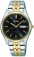 Buy Seiko Solar Mens Gold-plated Watch - SNE034P1 online