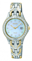 Buy Seiko Solar Ladies Crystal Set Two-tone Watch - SUT084P9 online