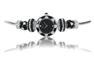 Buy Accurist Charmed by Accurist Ladies Enamel Beaded Watch - LB1444B online