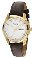 Buy Accurist Fashion Mens Day-Date Display Watch - MS985W online