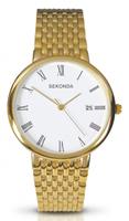 Buy Sekonda Mens Date Display Gold PVD Watch - 3683 online