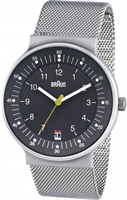 Buy Braun Classic Mens Date Display Mesh Watch - BN0082GYSLMHG online