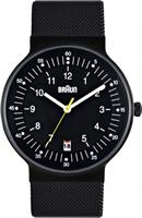 Buy Braun Classic Mens Date Display Mesh Watch - BN0082BKBKMHG online