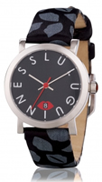 Buy Lulu Guinness Glamour Lip Print Ladies Date Display Watch - LG20009S01X online