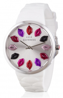 Buy Lulu Guinness Mischief Quilted Lips Ladies  Watch - LG20002S06X online