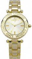 Buy Lipsy Ladies Crystal Set Gold PVD Watch - LP043 online
