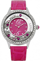 Buy Lipsy Ladies Crystal Set Hot Pink Watch - LP088 online