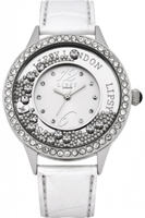 Buy Lipsy Ladies Crystal Set White Leather Watch - LP103 online
