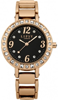 Buy Lipsy Ladies Crystal Set Bezel Rose Gold PVD Watch - LP121 online