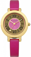 Buy Lipsy Ladies Gold PVD Pink Leather Watch - LP126 online