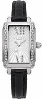 Buy Lipsy Ladies Crystal Set Black Leather Strap Watch - LP138 online