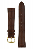 Buy Hirsch London Alligator Leather Watch Strap - 04207019-1-20 online