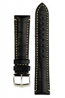 Buy Hirsch Viscount Alligator Leather Watch Strap - 10270759-2-20 online
