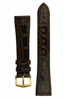 Buy Hirsch Genuine Croco Leather Watch Strap - 18920810-1-18 online