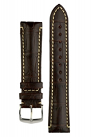 Buy Hirsch Viscount Alligator Leather Watch Strap - 10270719-2-20 online