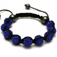 Buy Shamballa Blue Crystal Unisex Bracelet - SHAMBRAC-142 online