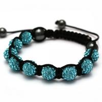 Buy Shamballa Turquoise Crystal Unisex Bracelet - SHAMBRAC-41 online