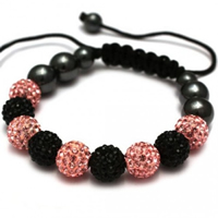 Buy Shamballa Black and Pink Crystal Unisex Bracelet - SHAMBRAC-65 online