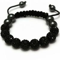 Buy Shamballa Black Crystal Unisex Bracelet - SHAMBRAC-67 online