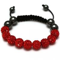 Buy Shamballa Red Crystal Unisex Bracelet - SHAMBRAC-82 online