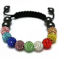 Buy Shamballa Multicoloured Crystal Unisex Bracelet - SHAMBRAC-79 online