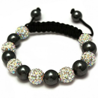 Buy Shamballa Iridescent Crystal Disco Ball Unisex Bracelet - SHAMBRAC-92 online