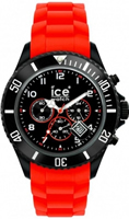 Buy Ice-Watch Ice-Chrono Large Black & Red Watch CH.BR.B.S online
